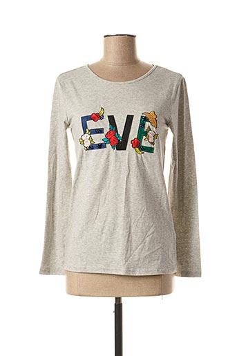 T-shirt manches longues gris MINI MIGNON pour fille