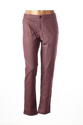 Pantalon casual rouge FREESIA pour femme