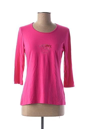 T-shirt manches longues rose COTE ANGLAISE pour femme