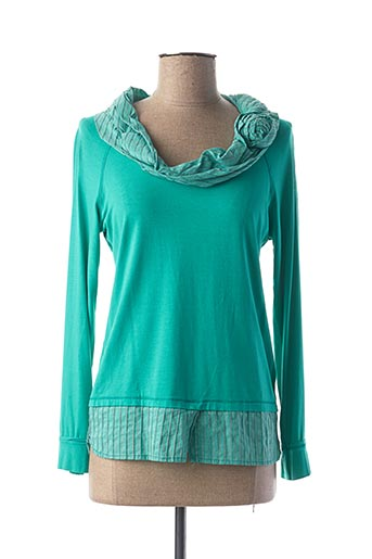 T-shirt manches longues vert DP JEANS pour femme