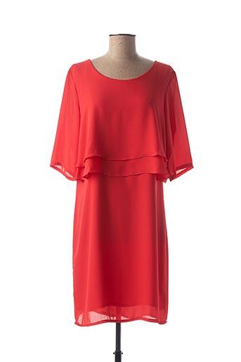 Robe mi-longue rouge FEMMES JE VOUS AIME pour femme