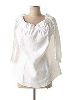 Blouse manches longues blanc MALOKA pour femme