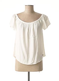 Blouse manches courtes blanc SURKANA pour femme
