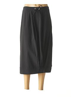 Jupe mi-longue noir MALOKA pour femme