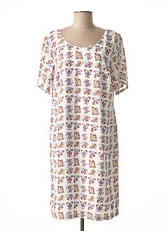 Robe mi-longue blanc FELINO pour femme