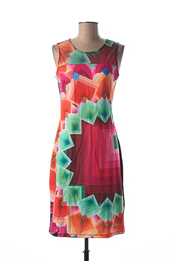 Robe mi-longue rose DESIGUAL pour femme