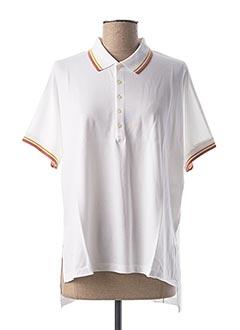 Polo manches courtes blanc CLOSED pour femme