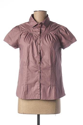 Chemisier manches courtes violet BRUUNS BAZAAR pour femme