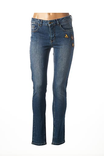 Jeans coupe slim bleu IMITZ pour femme