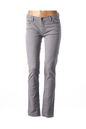 Jeans coupe slim gris BRUUNS BAZAAR pour femme