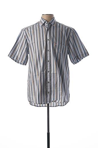 Chemise manches courtes gris JUPITER pour homme