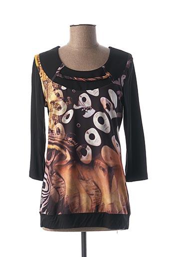 T-shirt manches longues noir CAPUCCINO pour femme