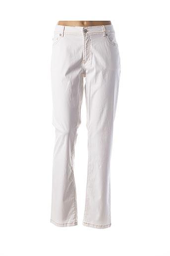 Pantalon casual blanc CMK pour femme