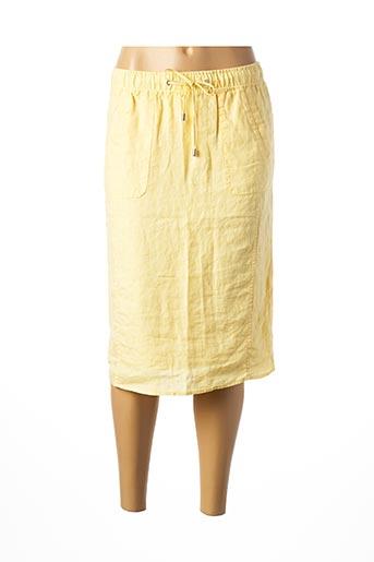 Jupe mi-longue jaune LEBEK pour femme