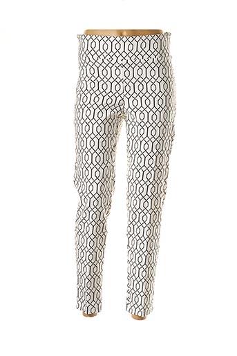 Pantalon 7/8 blanc FRANK LYMAN pour femme