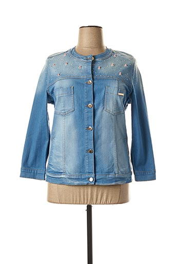 Veste en jean bleu CRISTINA BARROS pour femme