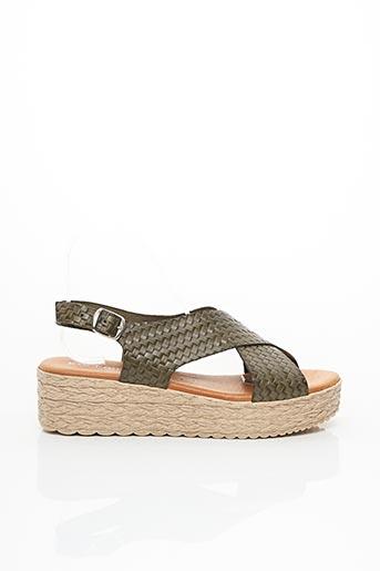 Sandales/Nu pieds vert EVA FRUTOS pour femme