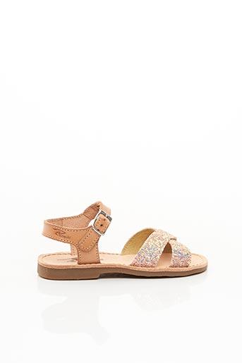 Sandales/Nu pieds rose REQINS pour fille