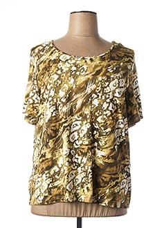 T-shirt manches courtes vert FRANCOISE F pour femme