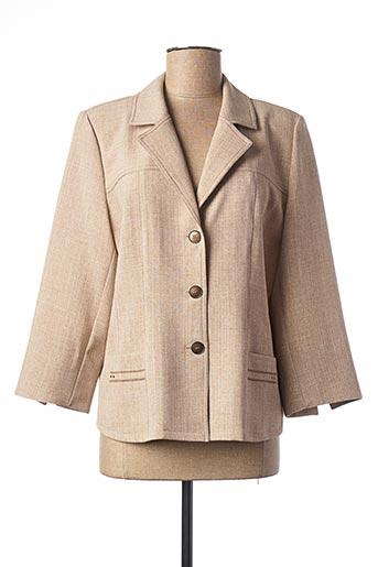 Veste casual beige GEVANA pour femme