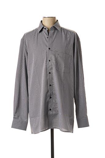 Chemise manches longues noir MARVELIS pour homme