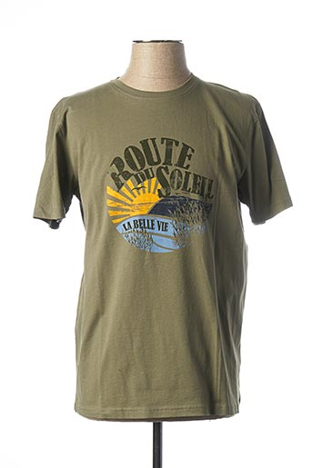 T-shirt manches courtes vert MARVELIS pour homme