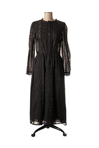 Robe mi-longue noir DIXIE pour femme