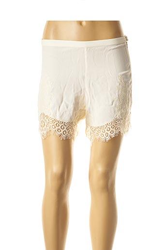 Short beige BY SOPHIE pour femme