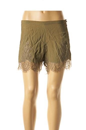 Short vert BY SOPHIE pour femme