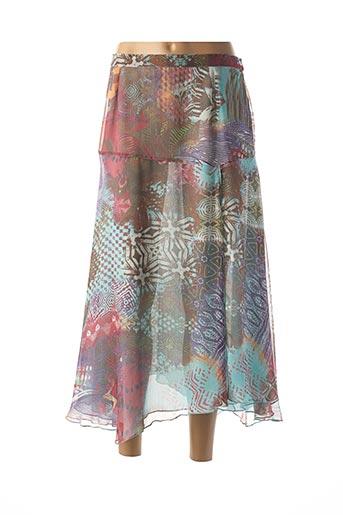 Jupe longue bleu BRIGITTE SAGET pour femme