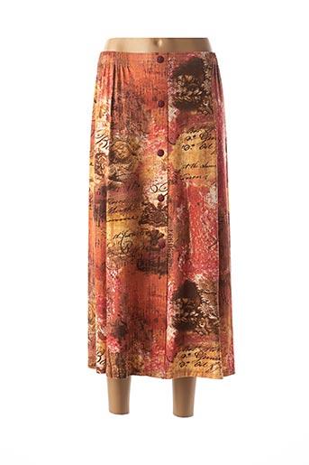 Jupe longue orange BRIGITTE SAGET pour femme