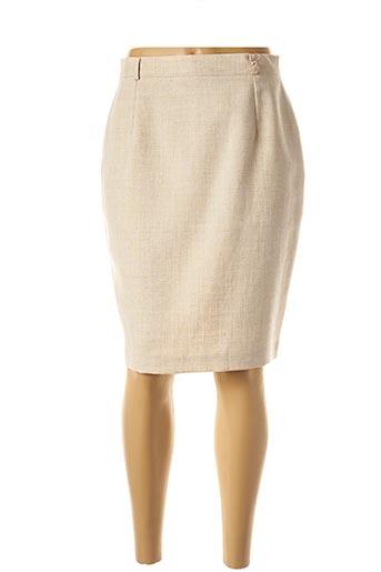 Jupe mi-longue beige FEDORA pour femme