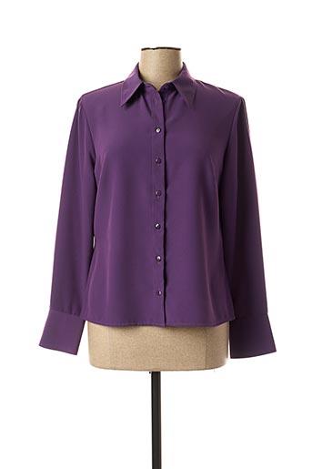 Chemisier manches longues violet FOSBY pour femme