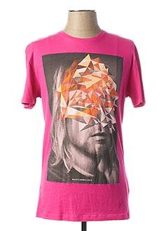 T-shirt manches courtes rose ANTONY MORATO pour homme