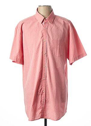 Chemise manches courtes rose LA SQUADRA pour homme