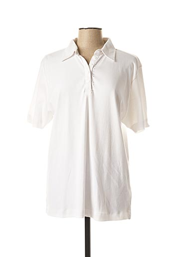Polo manches courtes blanc CALANIA pour femme