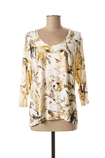T-shirt manches longues beige ALBERT FORCIER pour femme