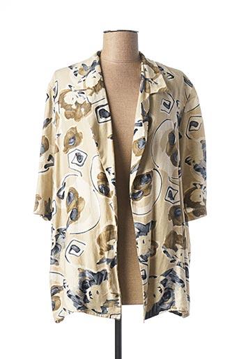 Veste casual beige BRIGITTE SAGET pour femme