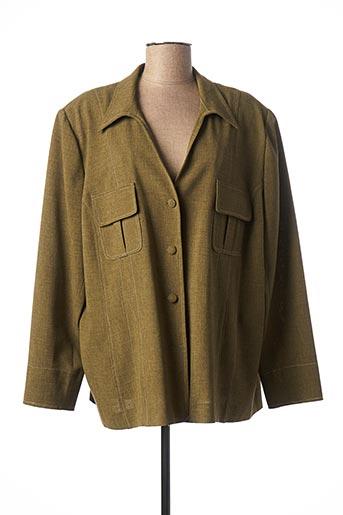 Veste casual vert COUTUREINE pour femme