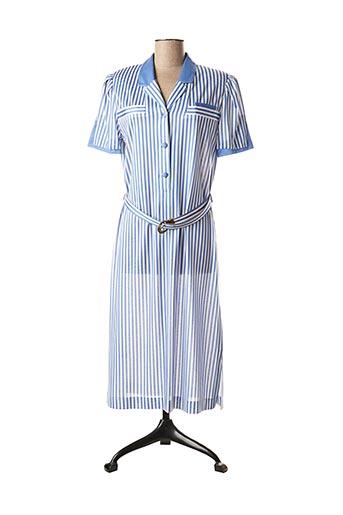 Robe mi-longue bleu COUTUREINE pour femme