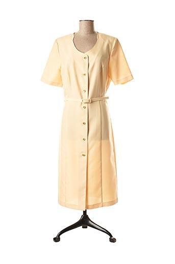 Robe mi-longue jaune ALMINA pour femme