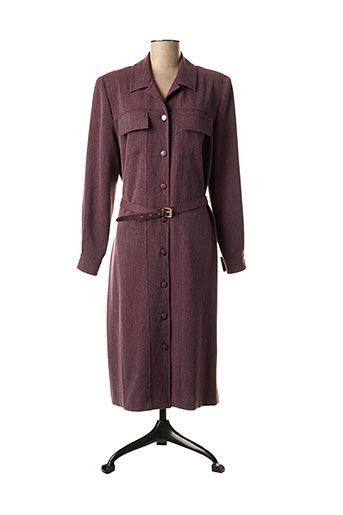 Robe mi-longue violet COUTUREINE pour femme