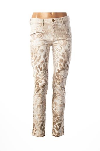 Pantalon casual beige KOCCA pour femme