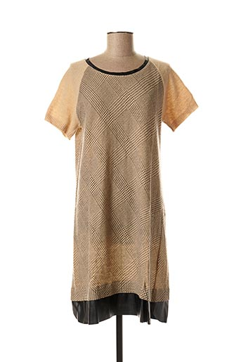 Robe pull beige LA FEE MARABOUTEE pour femme