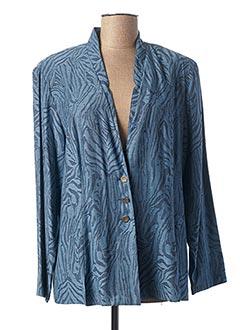 Veste casual bleu CLAUDE DE SAIVRE pour femme