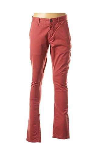 Pantalon casual rouge IZAC pour homme