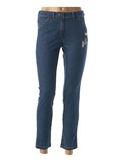 Pantalon casual bleu AVENTURES DES TOILES pour femme