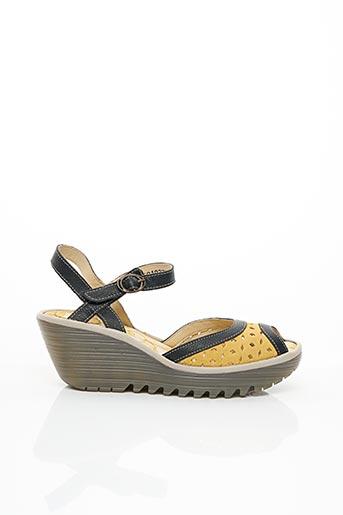 Sandales/Nu pieds jaune FLY LONDON pour femme