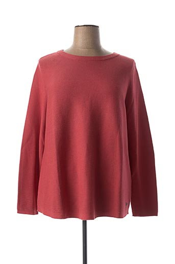 Pull col rond rouge BIANCA pour femme