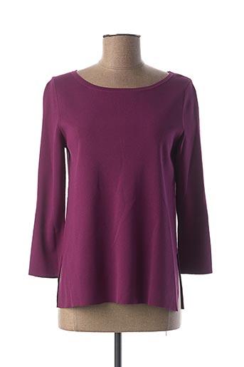 Pull col rond violet BIANCA pour femme